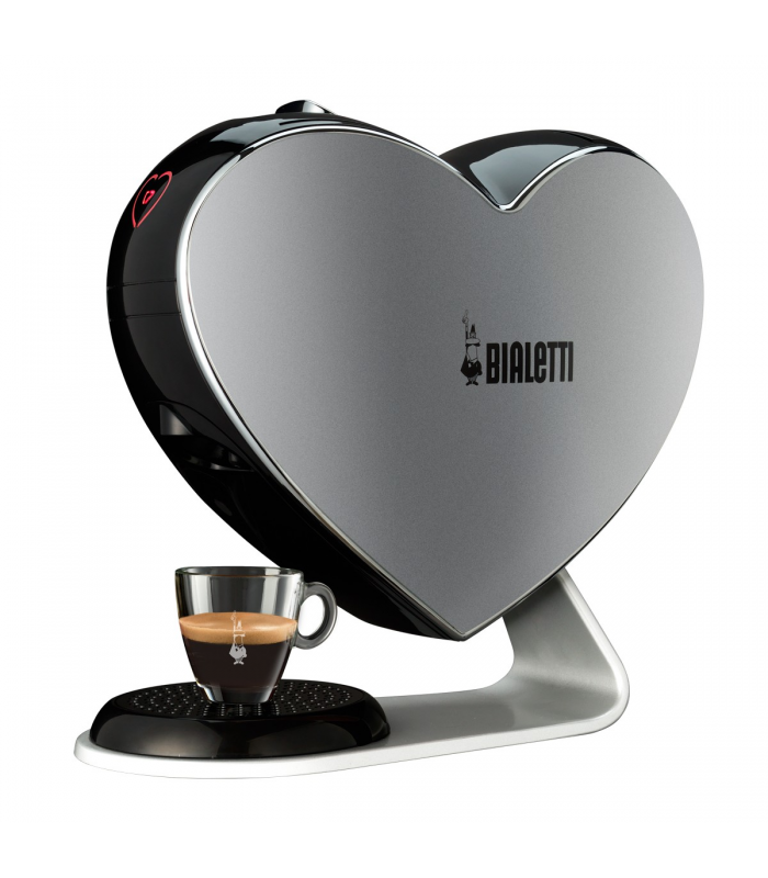 cafeti re capsule cuore gris bialetti kazatrade. Black Bedroom Furniture Sets. Home Design Ideas